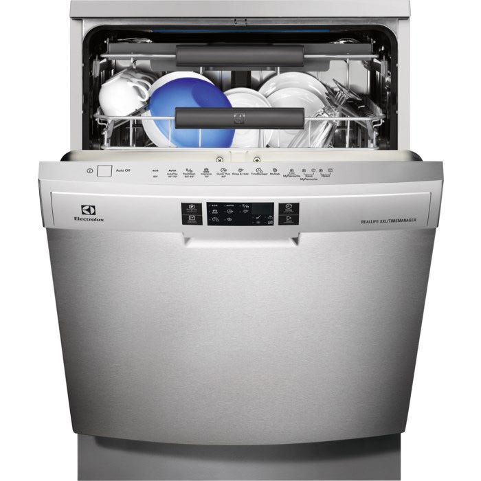 Tilava Electrolux ESF8530ROX -astianpesukone sopii hyvin perheisiin, joissa tiskiä kertyy paljon. Teräksen värisessä tiskikoneessa on kätevät SoftGrip-pidikkeet, jotka pitävät viinilasisi turvallisesti paikallaan pesun ajan.