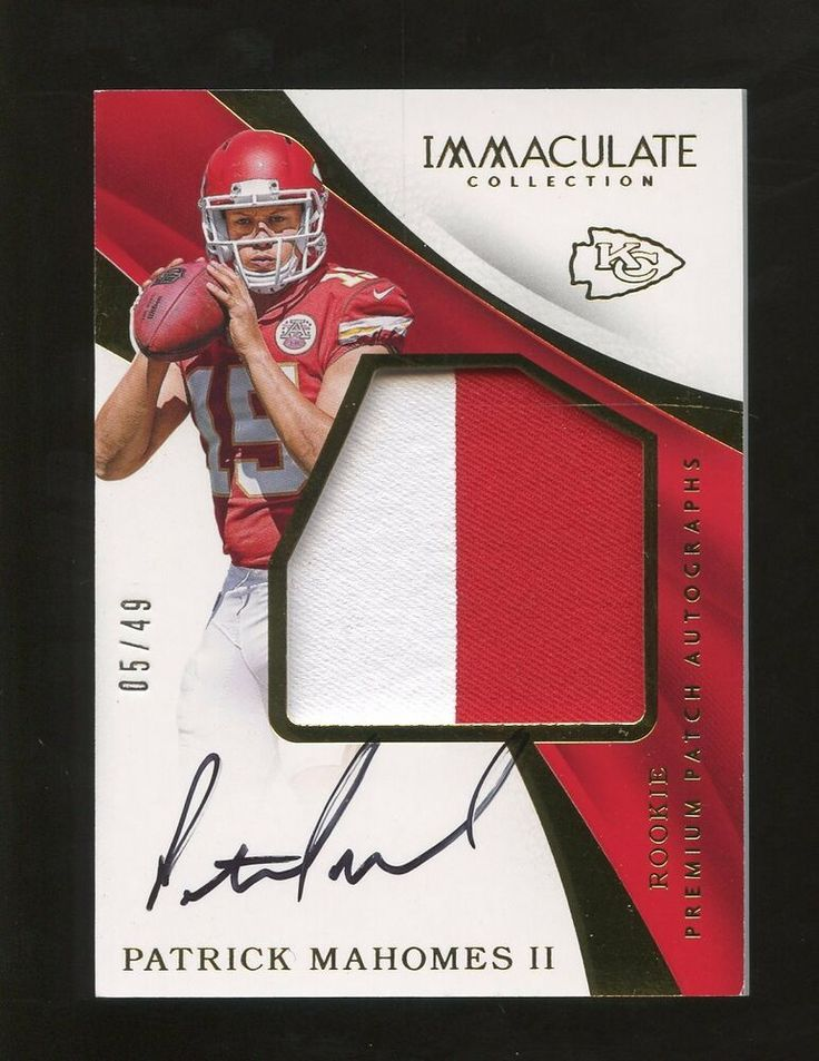 2017 immaculate premium patrick mahomes rpa rc patch auto