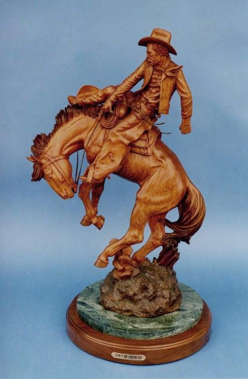 Best carved cowboys images on pinterest