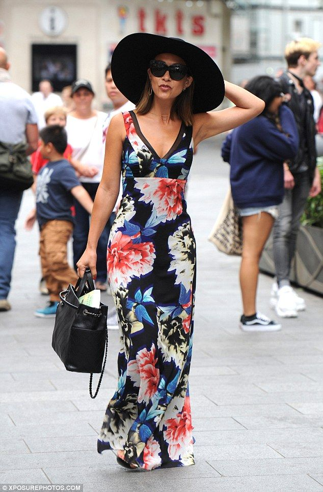 Smooth Operator... Myleene Klass did well to stand out from the crowd in London on Monday afternoon