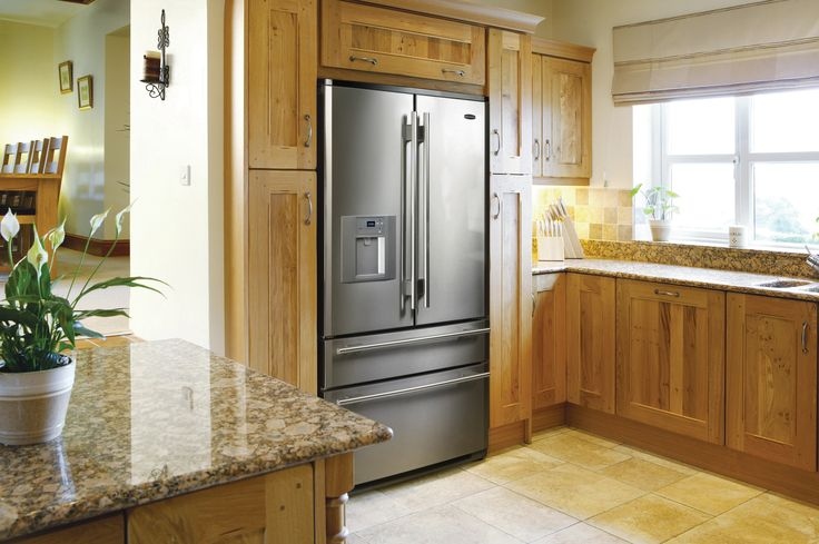Rangemaster co-ordinating collection to compliment your range cooker. DXD Four-door flexibility makes the most of every inch of fridge and freezer space, whilst a streamlined drinks dispenser allows free-flowing filtered water.   #range #kitchen #fridge