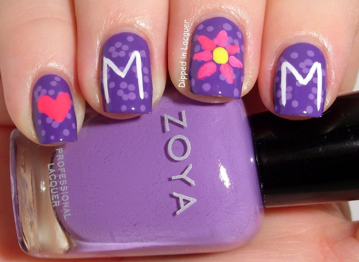 11 best Mother\'s Day Nail Art images on Pinterest | Manicures ...