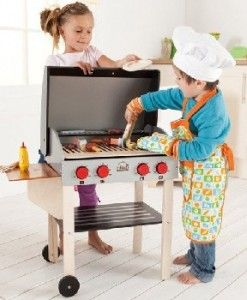 Wooden Play Kitchen Backyard BBQ $145.00 #sweetcreations #kids #babies #toys #play #roleplay