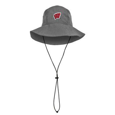 Wisconsin Badgers Under Armour Air Vent Warrior Bucket Hat - Graphite - Fanatics.com