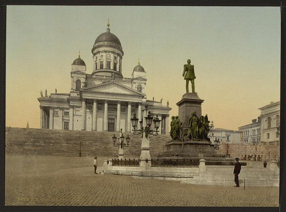 Monument of Alexander II Helsingfors Russia by vintagephotograph