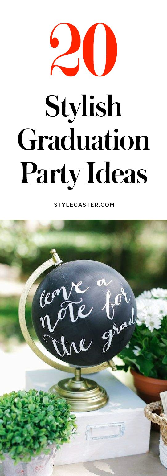 20 Stylish Graduation Party Ideas to Copy—From decor ideas to cute DIYs and desserts!