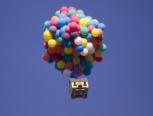 real life upMovie House, Hot Air, Floating House, Real Life, The Real, National Geographic, Balloons, Pixar Movie, Disney Movie