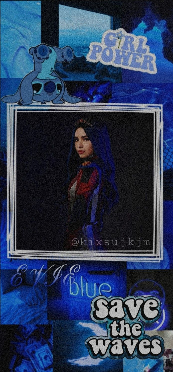 wallpaper aesthetic blue descendants Evie, Sfondi