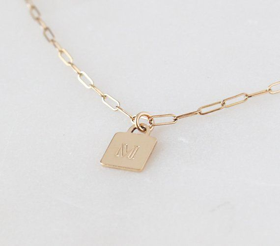 Sterling Silver Womens 1mm Box Chain Mini Lined Number Nine 9 Pendant Necklace