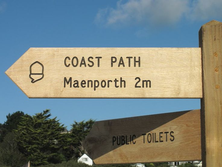 Signpost at Swanpool Beach, Falmouth