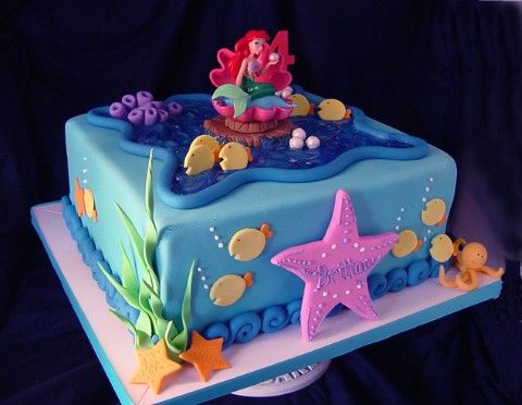 297 best Disneys Little Mermaid Cakes images on Pinterest