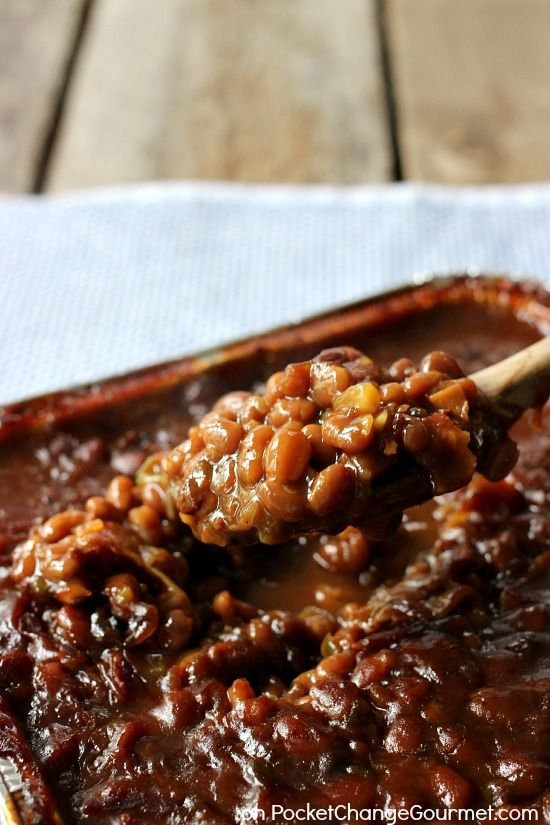 Smokehouse Grilled Barbecue Beans | Pocket Change Gourmet