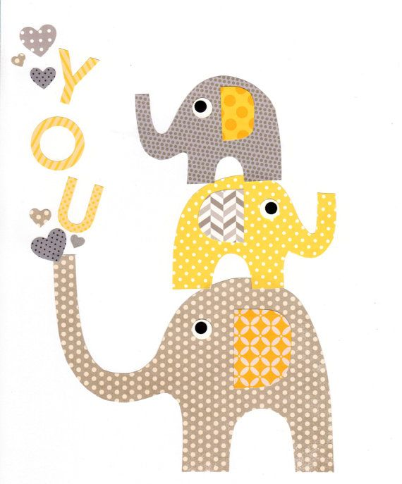 Yellow and Grey Nursery Artwork Print // Baby Room Decoration // Kids Room Decoration // Gifts Under 50 on Etsy, $14.00