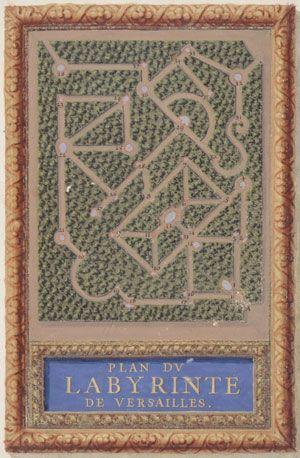 Sébastien Leclerc, Plan du labyrinthe de Versailles, 1665, Paris, musée du Petit Palais.