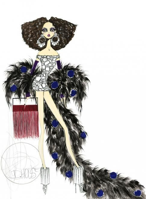 fashion sketches by Henry Dale House only at www.lsfabrics.com