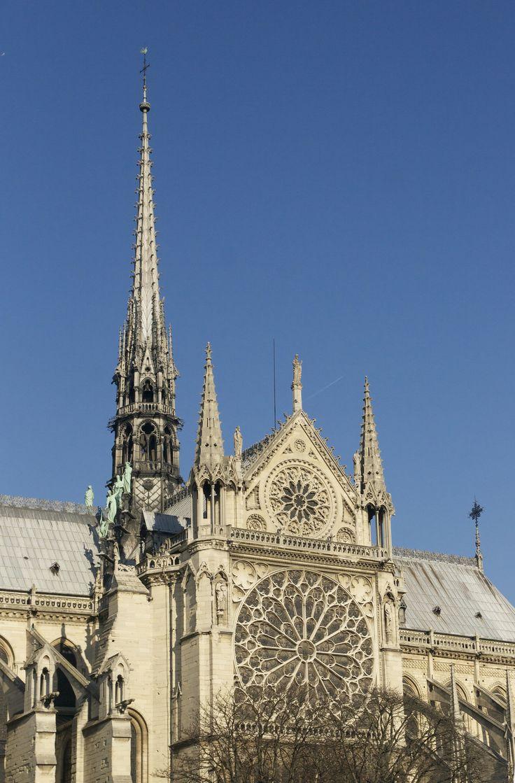 Flèche And Rose Window Of Notre Dame De Paris, 1163 1325. Gothic Art