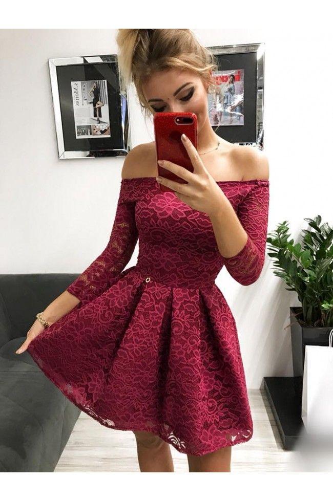 97bd114a3b Sukienka wieczorowa Scarlett II - bordowa w 2019