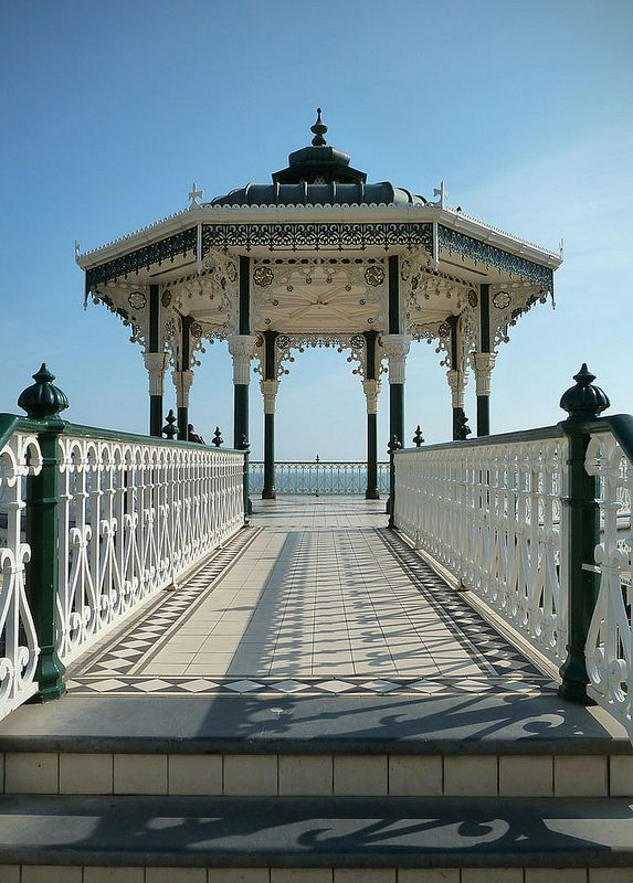 Victorian Bandstand, The Lanes, Brighton, England, UK