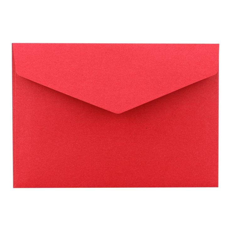 Briefumschlag C6, Dunkelrot, glatt, selbstklebend