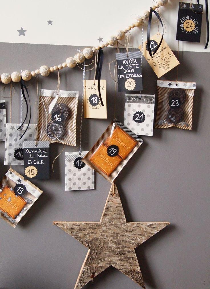 Les étoiles grises: *** C'est Lundi ... DIY Mon Calendrier de l'Avent, graphique et joyeux ... ***