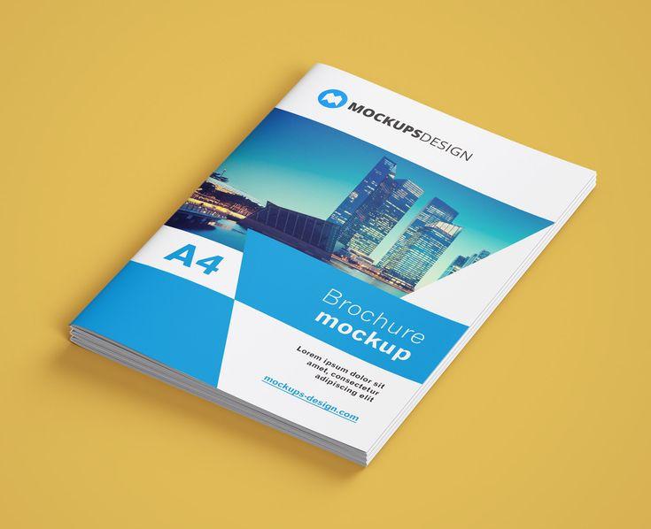 Free A4 Brochure Company Profile Mockup Psd 1 Brochure Company Profile Company Profile Presentation