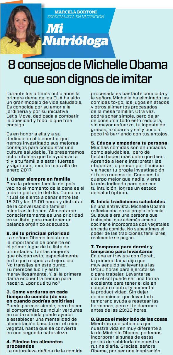 Periódico El Horizonte 8 consejos de Michelle Obama que son dignos de imitar.