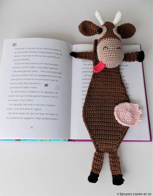 Gehaakte boekenlegger / bookmark crochet