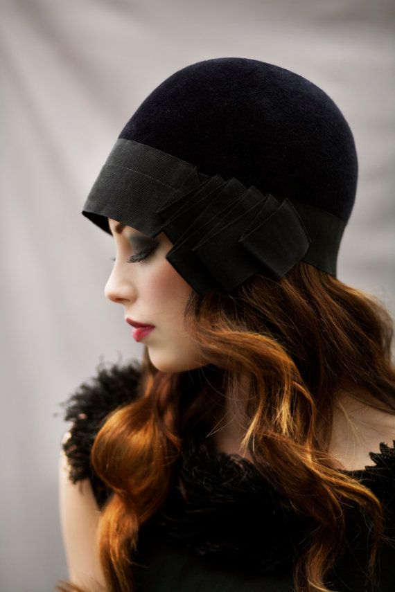 The City Riding Cloche Hat by MaggieMowbrayHats on Etsy