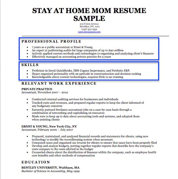 stayathome mom resume sample with images  resume
