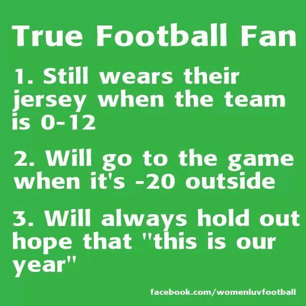 A True Football Fan !