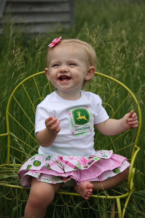 Baby Girls John Deere outfit Ruffle Skirt with by Beautiful6, $28.00
