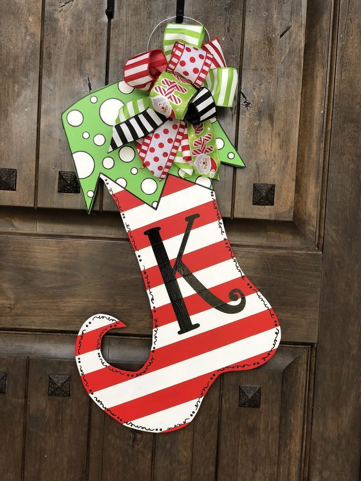 Christmas Door Hanger Christmas Stocking Christmas Wreath Door Decoration Christmas Decorations Christmas Decor Christmas Door Hanger Christmas Towels Silver Christmas Decorations