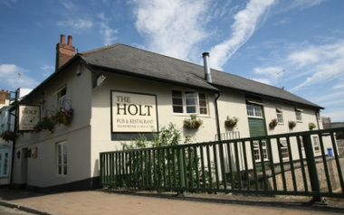 The Holt, Honiton - Family run. Good food and fabulous Otter Beers! Worth a visit if near Honiton East Devon. A pint of smoked prawns at the bar is our favourite treat.