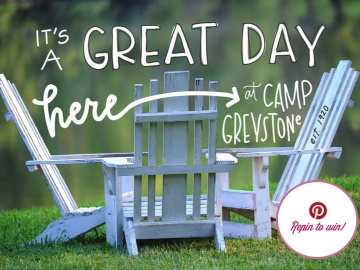 Repin to Win! It's a great day here at Camp Greystone! www.campgreystone.com