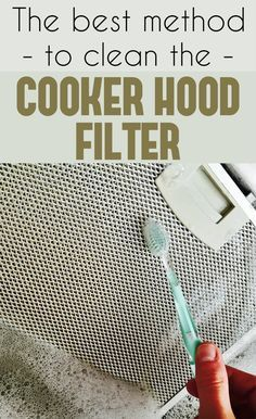 The best method to clean the cooker hood filter.