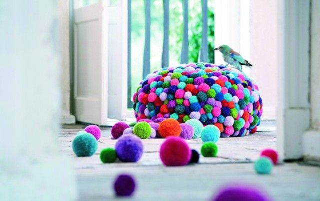 Pynt opp interiøret med pomponger!