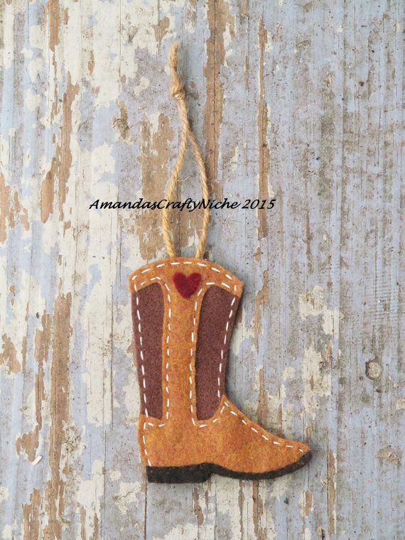 Felt Cowboy Boot Ornament