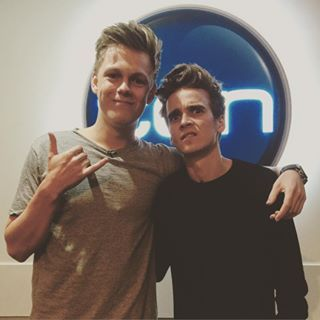 Instagram photo by joe_sugg - Hanging out with @caspar_lee down under promoting #hittheroad go pre order it now! Link in my bio :)