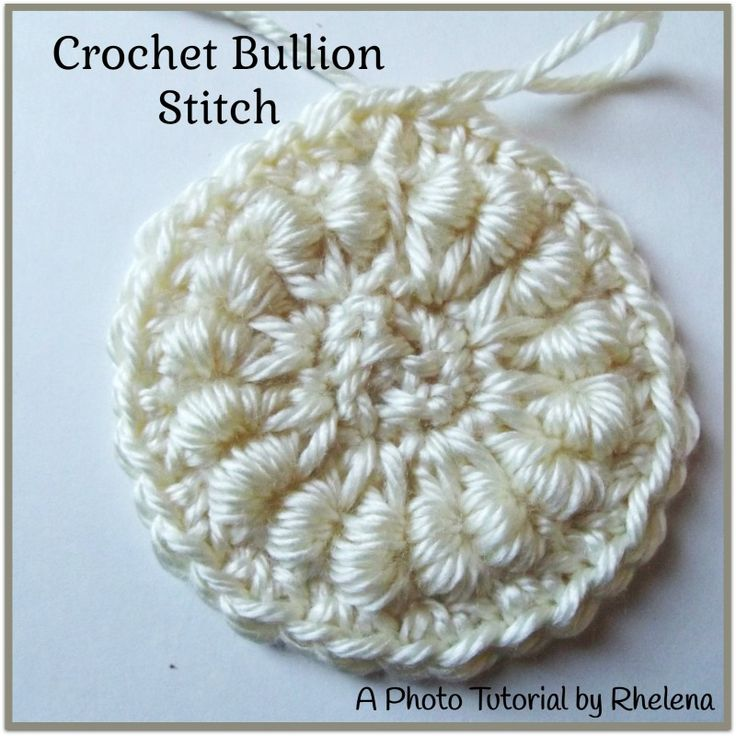 Learn how to crochet the bullion stitch, also known as the roll stitch. With a bit of patience and lots of practice the stitch is not hard to make at all.