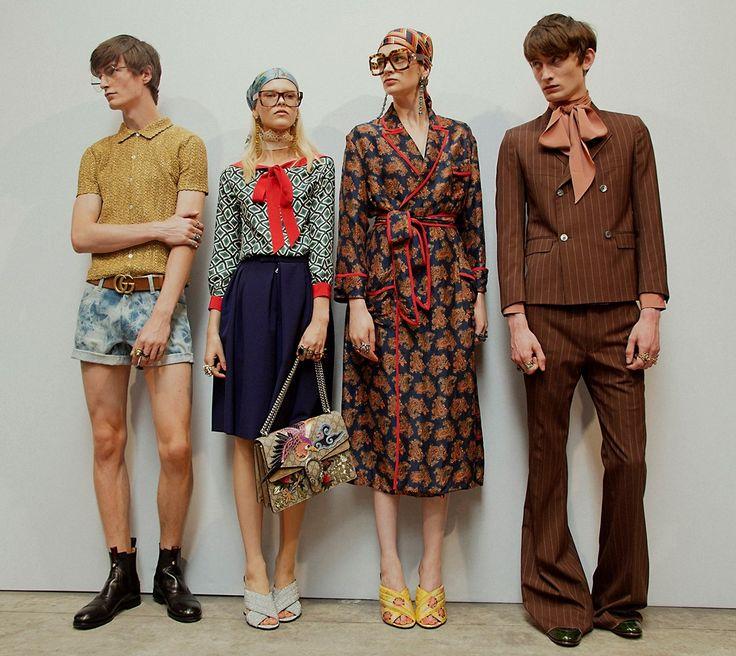 As semanas de moda já estão se fundindo em uma só. Nas últimas Semanas de Moda foi possível ver garotas em desfiles masculinos, como no desfile da Gucci, que traduziu o mesmo conceito para ambos os gêneros.