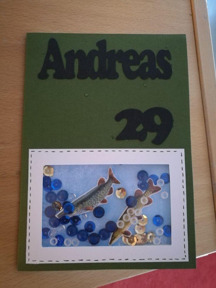 Birthdaycard with aquarium.