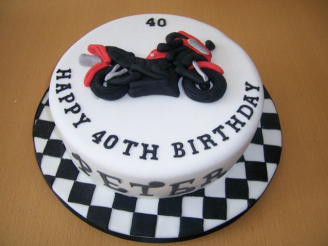 Motorbike Cake | For a motorbike/motorcycling fan | Helen | Flickr