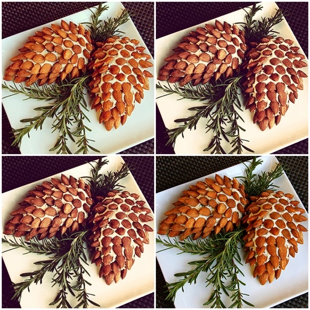 Almonds and cream cheese pine nut, for the holidays! http://www.cooking.com/Recipes-and-More/recipes/Holiday-Pine-Cone-Cheeseball-recipe-10001257.aspx#axzz2CzuuGjQY