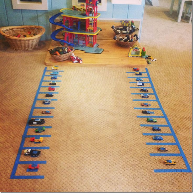 Letter hunting with matchbox cars! This is a fun way to combine learning…