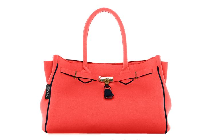 batija bag hot coral and black
