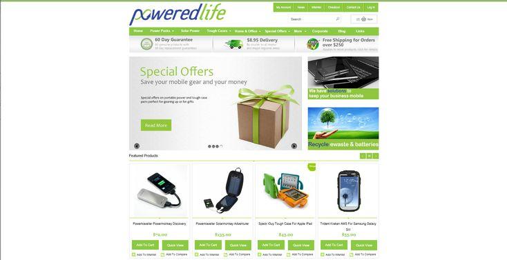 E-Commerce design for Powered Life www.poweredlife.com.au