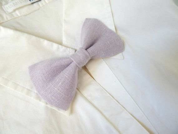 Check out this item in my Etsy shop https://www.etsy.com/listing/201393657/wedding-bow-tie-pins-in-lilac-linen