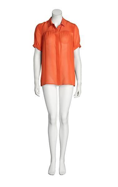 Блузка из шелка кораллового цвета