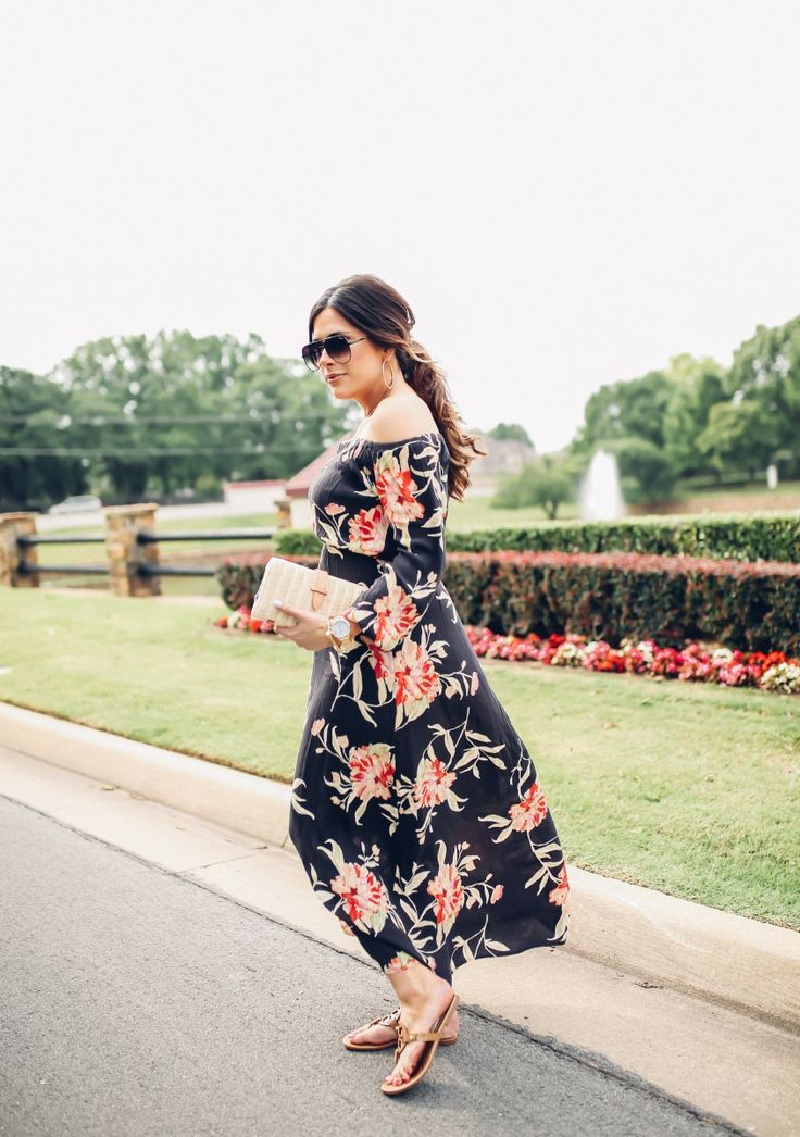 MAY 22, 2017 Maxi Dress + Messy Hair - DRESS: Billabong   SANDALS: Tory Burch   CLUTCH: J.Crew   NECKLACE: similar HERE   SUNGLASSES: Quay   WATCH: BP   BRACELET: Styled Collection   EARRINGS: Nordstrom
