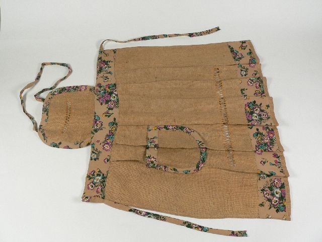Hessian apron made from a sugar bag by Beatrice Crowe at Gunning, NSW, in 1930